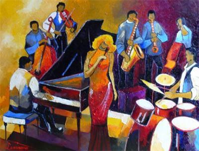 075/600 - huile 92 cm x 73 cm (30F) Jazz N°11